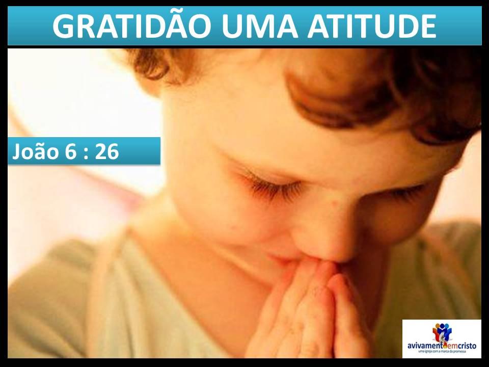 GRATIDÃO UMA ATITUDE